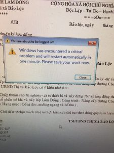 44060674 561606554290382 8531656008961884160 n 225x300 - sửa lỗi windows has encountered a critical problem and will restart