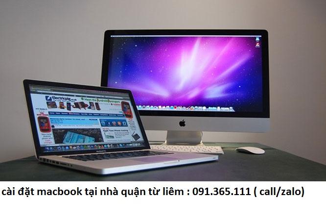 cài đặt macbook từ liêm