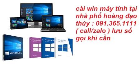 cài win máy tính tại nhà phố hoàng đạo thúy