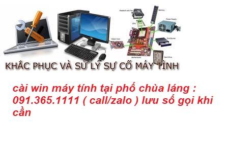 cài win máy tính tại nhà phố chùa láng