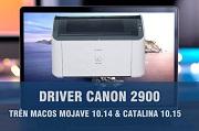 cài đặt driver canon 2900 trên mac os 10.14 , 10.15