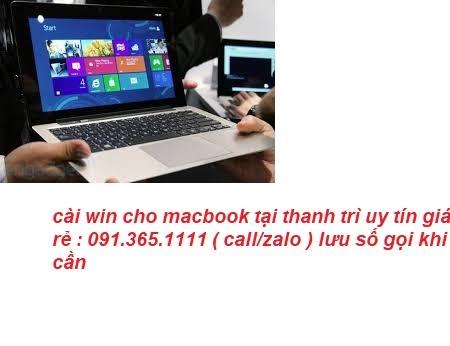 cài win cho macbook tại thanh trì uy tín