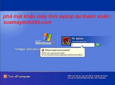 phá mật khẩu máy tính quận thanh xuân