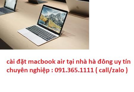 cài đặt macbook air nhà hà đông