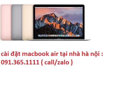 cài đặt macbook air tại hà nội giá rẻ