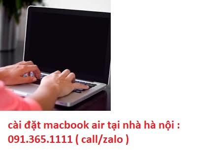 cài đặt macbook air tại hà nội uy tín