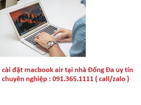 cài đặt macbook air tại nhà Đống Đa chuyên nghiệp