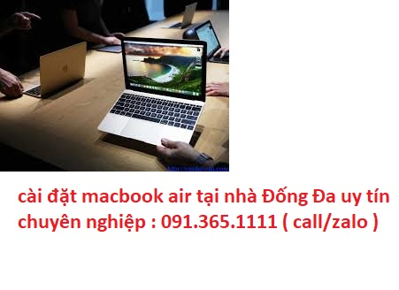 cài đặt macbook air tại nhà Đống Đa