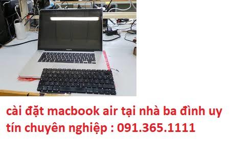 cài đặt macbook air tại nhà ba đình giá rẻ