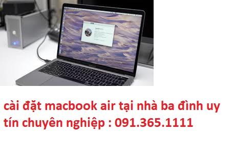 cài đặt macbook air tại nhà ba đình
