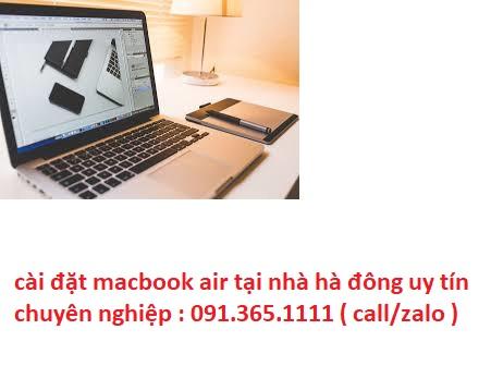 cài đặt macbook air tại nhà hà đông chuyên nghiệp