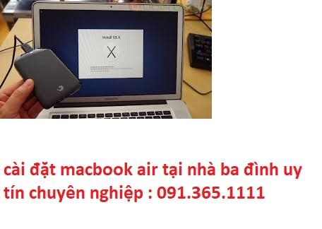 cài đặt macbook air tại nhà quận ba đình