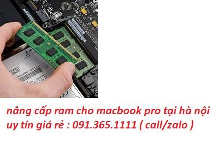 nâng cấp ram cho macbook pro tại hà nội