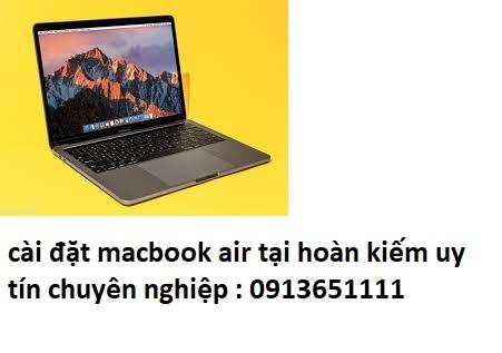 cài đặt macbook air tại hoàn kiếm giá rẻ