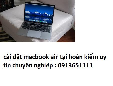 cài đặt macbook air tại hoàn kiếm uy tín