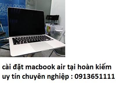 cài đặt macbook air tại hoàn kiếm