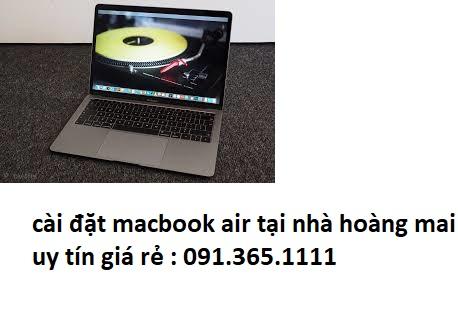cài đặt macbook air tại nhà hoàng mai uy tín