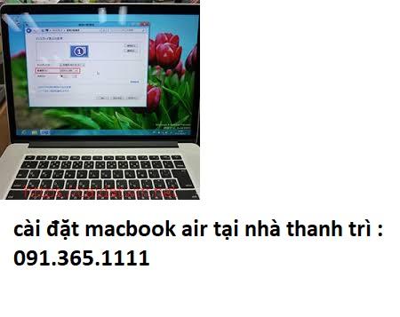 cài đặt macbook air tại nhà thanh trì uy tín