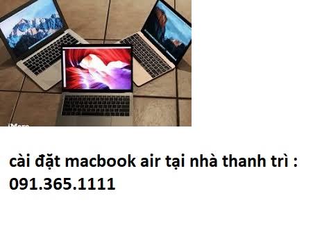 cài đặt macbook air tại nhà thanh trì
