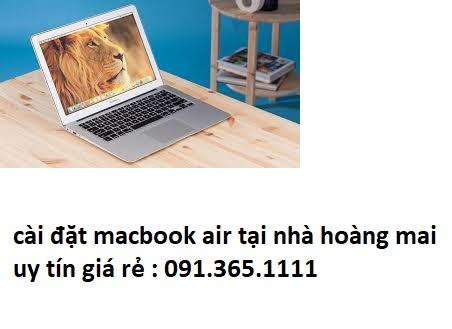 cài đặt macbook air tại quận hoàng mai