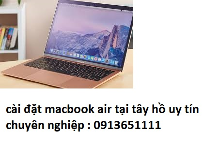 cài đặt macbook air tại tây hồ giá rẻ