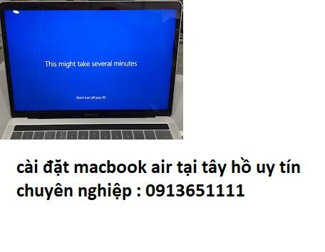 cài đặt macbook air tại tây hồ uy tín