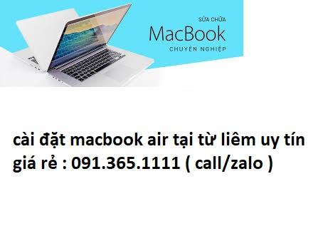 cài đặt macbook air tại từ liêm