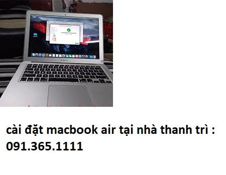 cài đặt macbook air tại thanh trì