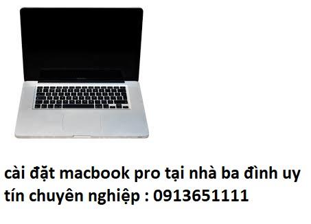 cài đặt macbook pro tại nhà ba đình uy tín
