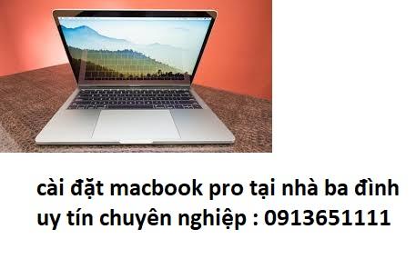 cài đặt macbook pro tại nhà ba đình