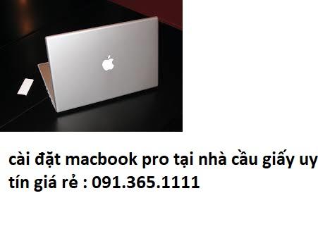 cài đặt macbook pro tại nhà cầu giấy giá rẻ