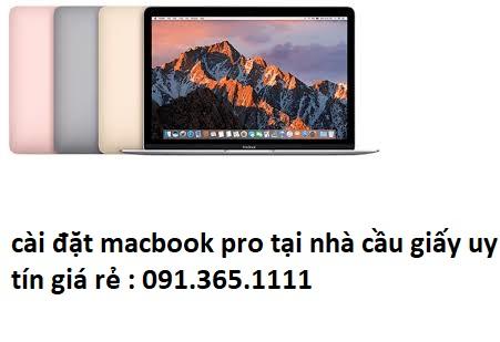cài đặt macbook pro tại nhà cầu giấy