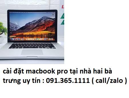 cài đặt macbook pro tại nhà hai bà trưng giá rẻ