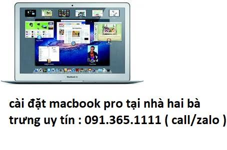 cài đặt macbook pro tại nhà hai bà trưng
