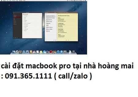 cài đặt macbook pro tại nhà hoàng mai giá rẻ