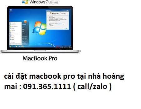 cài đặt macbook pro tại nhà hoàng mai uy tín