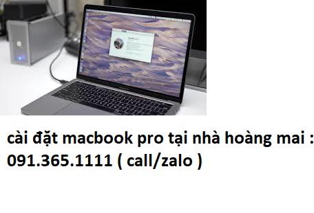 cài đặt macbook pro tại nhà hoàng mai