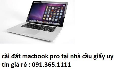 cài đặt macbook pro tại nhà quận cầu giấy