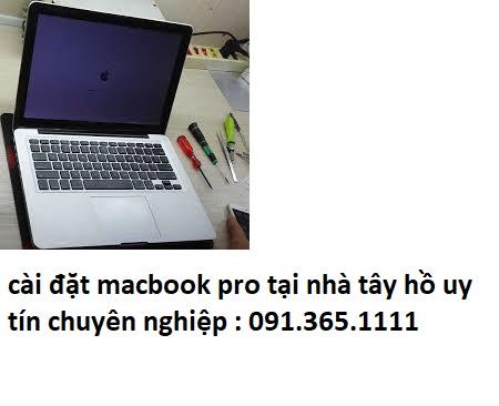 cài đặt macbook pro tại nhà tây hồ uy tín
