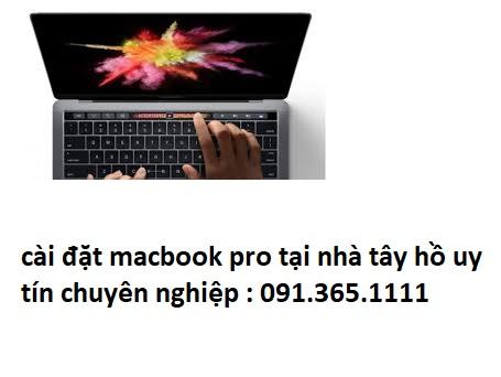 cài đặt macbook pro tại nhà tây hồ