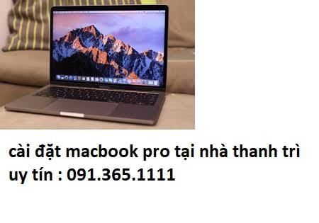 cài đặt macbook pro tại nhà thanh trì giá rẻ