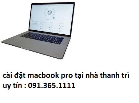 cài đặt macbook pro tại nhà thanh trì uy tín