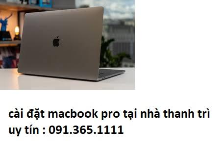 cài đặt macbook pro tại nhà thanh trì