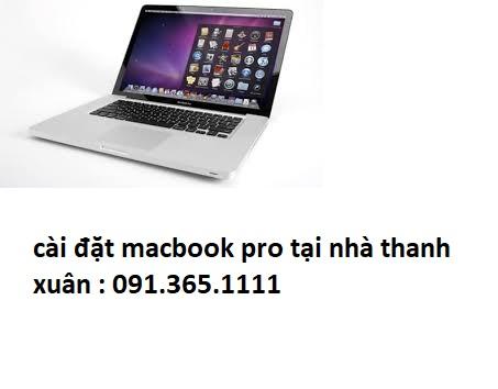 cài đặt macbook pro tại nhà thanh xuân