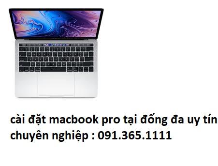 cài đặt macbook pro tại quận đống đa