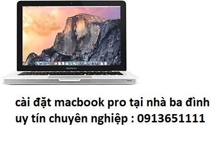cài đặt macbook pro tại quận ba đình