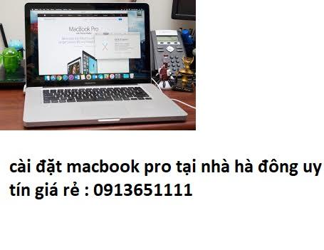 cài đặt macbook pro tại quận hà đông