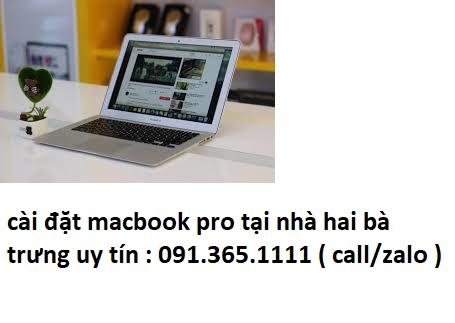 cài đặt macbook pro tại quận hai bà trưng