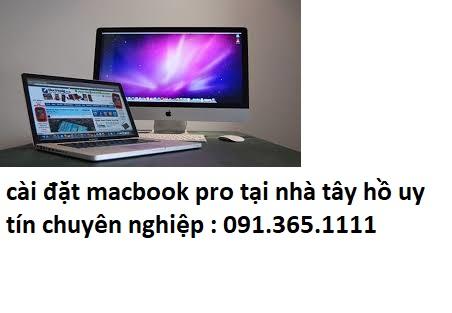 cài đặt macbook pro tại quận tây hồ