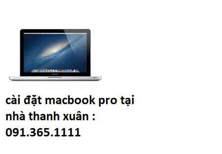 cài đặt macbook pro tại quận thanh xuân